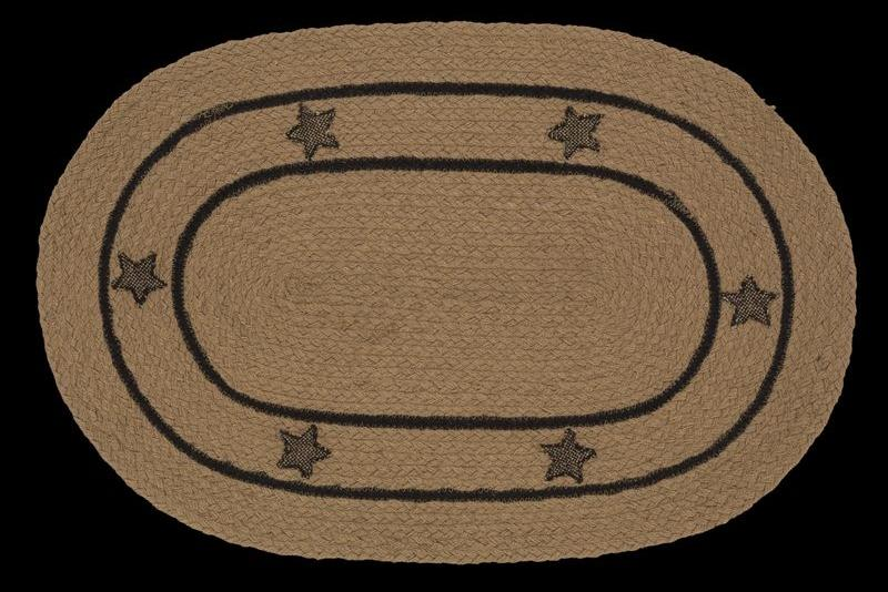 Burlap Star Braided Oval Rug - 22in. x 72in.