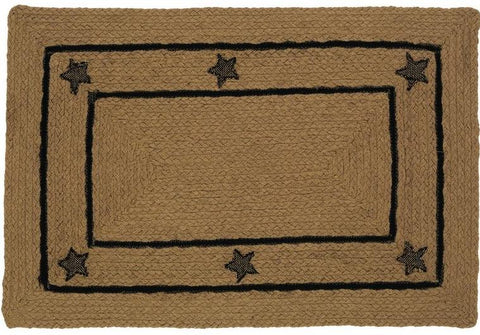 Burlap Star Braided Rectangle Rug - 22in. x 72in.