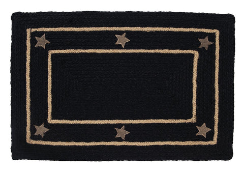 Burlap Star Black Braided Rectangle Rug - 27in. x 48in.