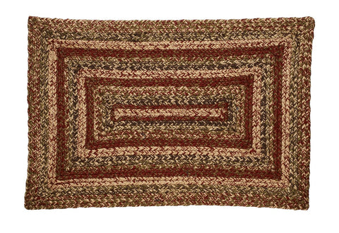 Apple Cider Braided Rectangle Rug - 20in. x 30in.