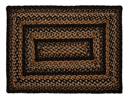 Black Forest Braided Rectangle Rug - 6ft. x 9ft.