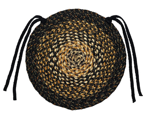 Black Forest Braided Chair Pad - Set of 2