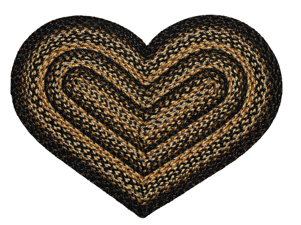 Black Forest Braided Heart Rug