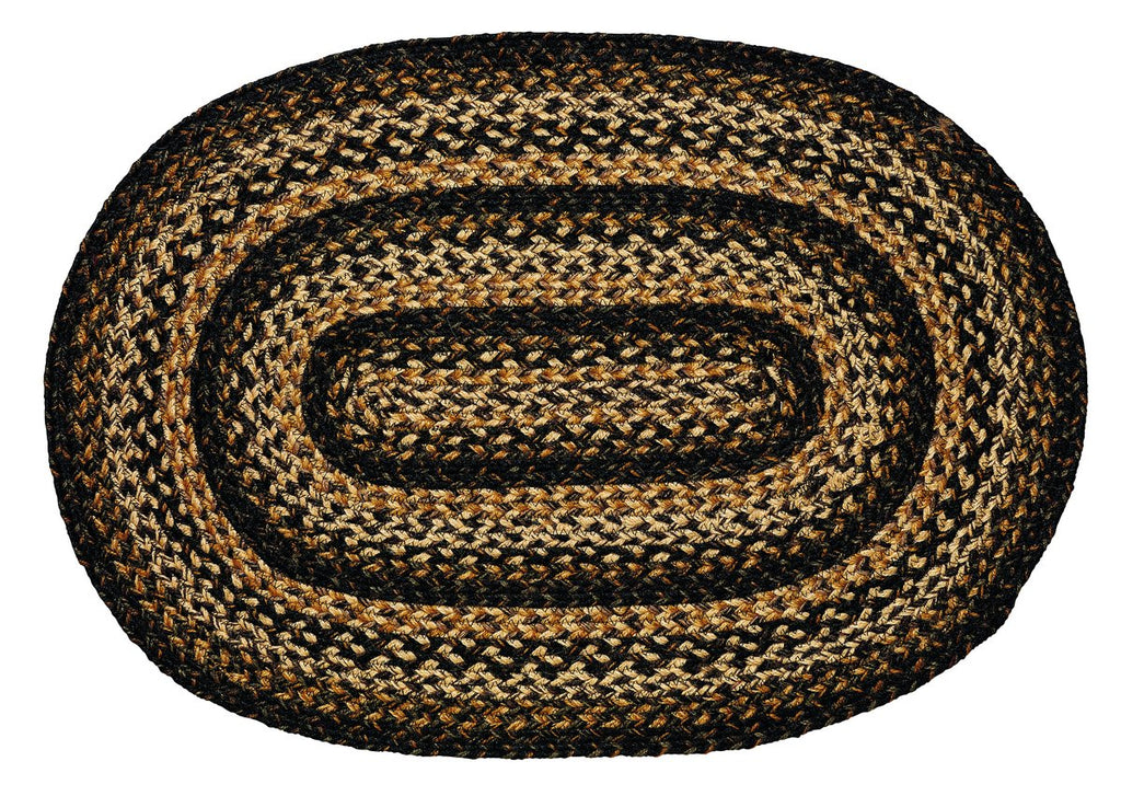 Black Forest Braided Oval Rug - 27in. x 48in.