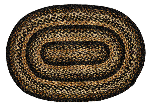 Black Forest Braided Oval Rug - 22in. x 72in.