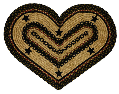 Tartan Star Braided Heart Rug