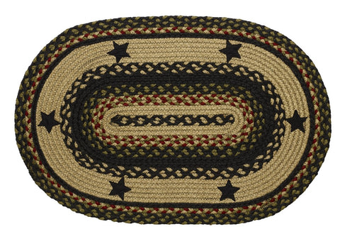 Tartan Star Braided Oval Rug - 22in. x 72in.