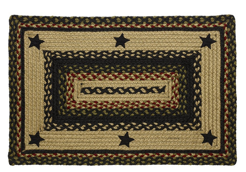 Tartan Star Braided Rectangle Rug - 36in. x 60in.