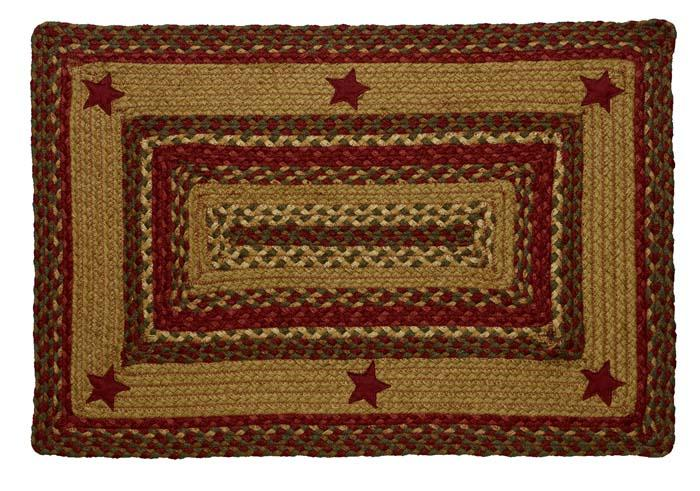Cinnamon Star Braided Rectangle Rug - 22in. x 72in.
