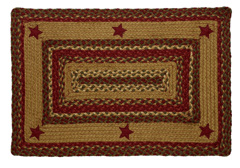 Cinnamon Star Braided Rectangle Rug - 20in. x 30in.