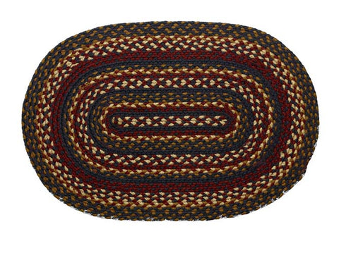 "Blueberry 20""X30"" Braided Rug Oval"