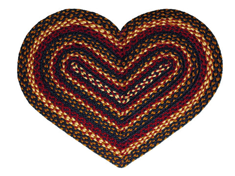 Blueberry Braided Heart Rug