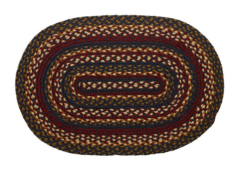 Blueberry Braided Oval Rug - 22in. x 72in.