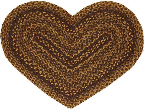 Acorn Braided Heart Rug