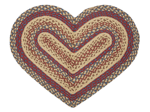 Shaker Braided Heart Rug