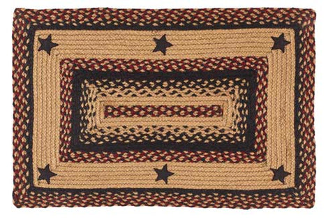 "Blackberry Star 20""X30"" Braided Rug Rect"