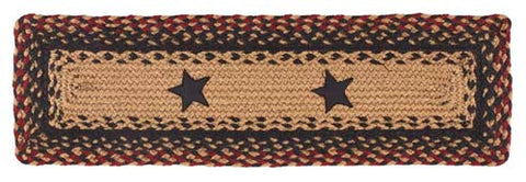 "Blackberry Star 8""X28"" Braided Stair Tread Rect"