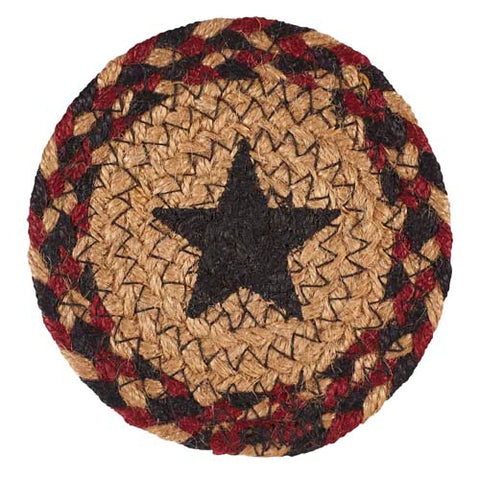 "Blackberry Star 4.5"" Braided Coaster - Set of 4"