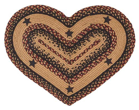 "Blackberry Star 20""X30"" Braided Heart Rug"
