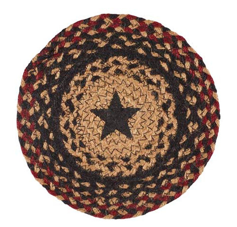 "Blackberry Star 8"" Braided Trivet - Set of 2"