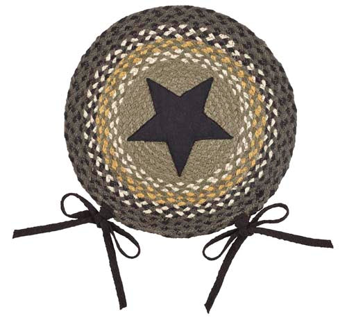 "Dartmouth Star 15"" Braided Chair Pad - Set of 2"