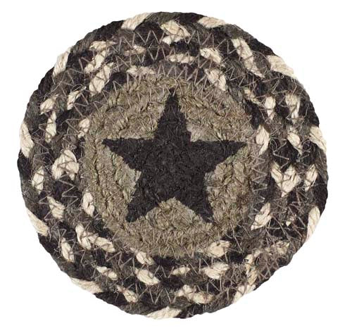 "Dartmouth Star 4.5"" Braided Coaster - Set of 4"