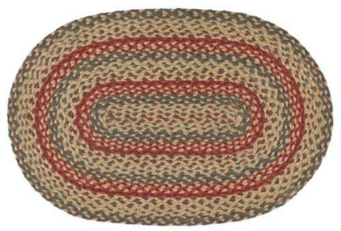 "Bistro 20""X30"" Braided Rug Oval"