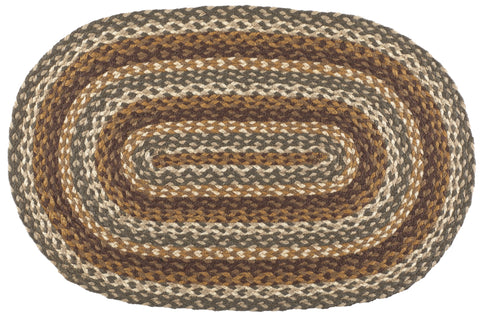 "Cedar Grove 22""X72"" Braided Rug Oval"