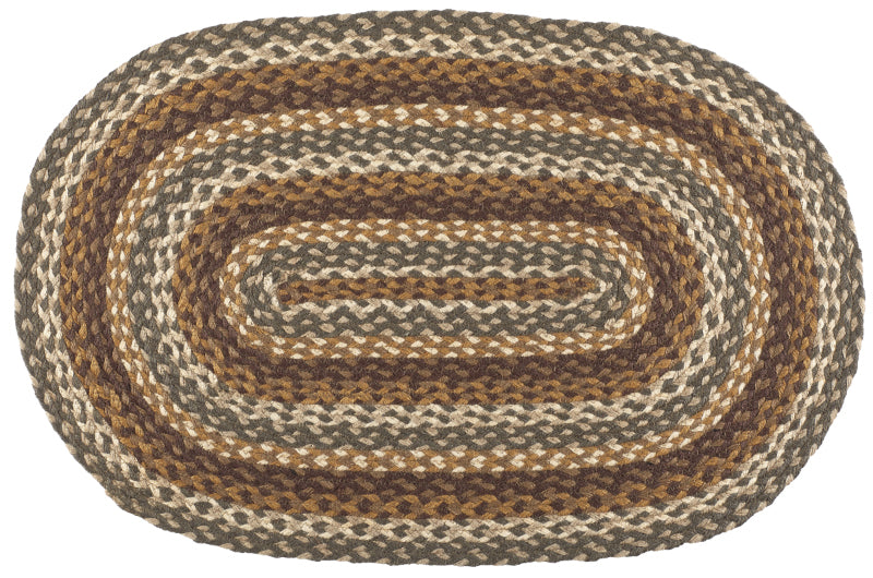 "Cedar Grove 36""X60"" Braided Rug Oval"
