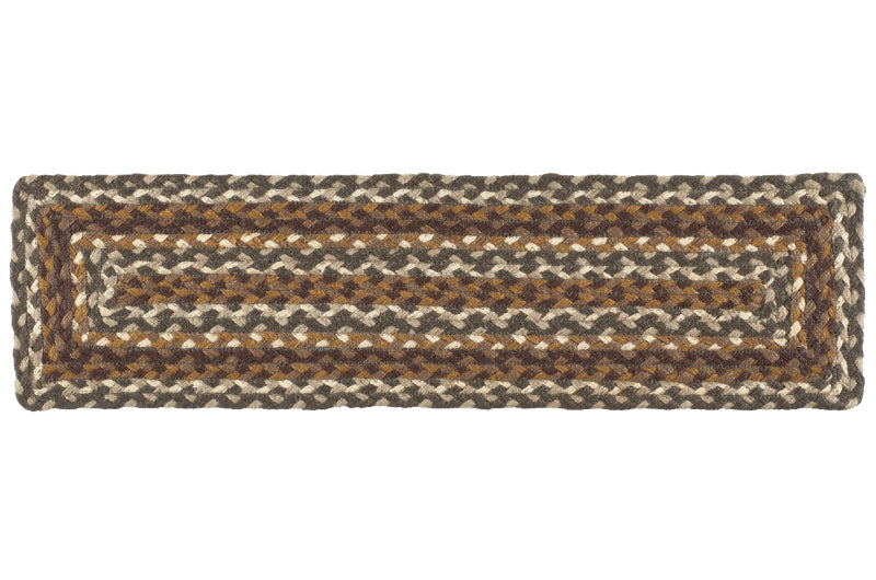 "Cedar Grove 8""X28"" Braided Stair Tread Rect - Set of 13"