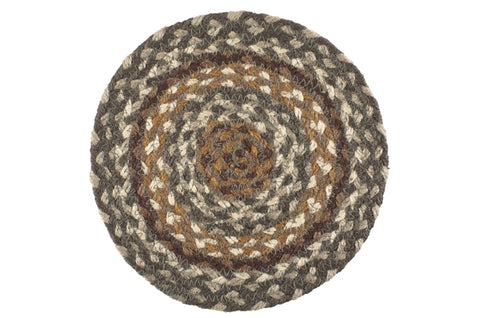 "Cedar Grove 8"" Braided Trivet - Set of 2"