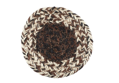 "Chestnut Lane 4.5"" Braided Coaster - Set of 4"