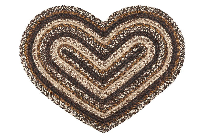 "Chestnut Lane 20""X30"" Braided Heart Rug"