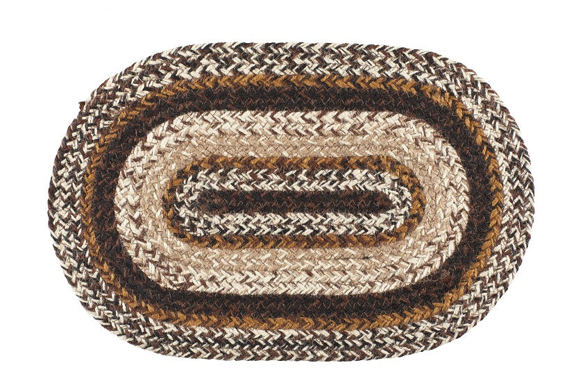 "Chestnut Lane 10""X15"" Braided Mini Placemat - Set of 2"