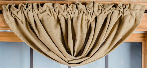Deluxe Burlap Natural Tan Balloon Valance