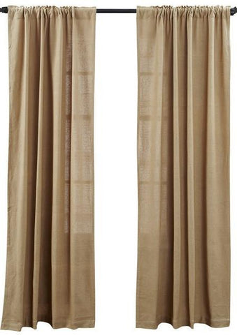 Deluxe Burlap Natural Tan Panel