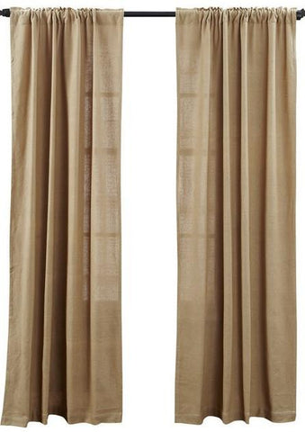 Deluxe Burlap Natural Tan Panel Curtain