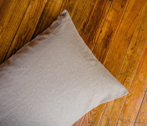 Deluxe Burlap Natural Tan Standard Pillow Sham