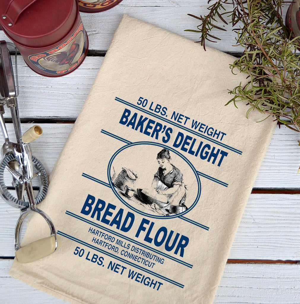 Farmhouse Natural Flour Sack Baker's Delight Bread Flour Country Kitchen Towel