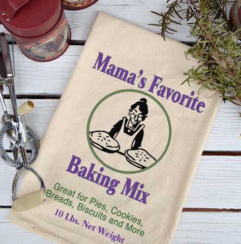 Farmhouse Natural Flour Sack Mama's Favorite Baking Mix Country Kitchen Towel