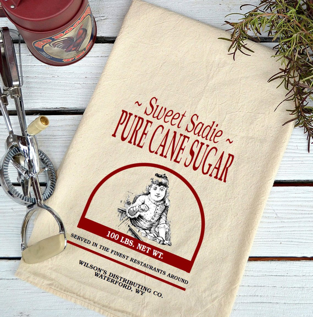 Farmhouse Natural Flour Sack Sweet Sadie Sugar Country Kitchen Towel