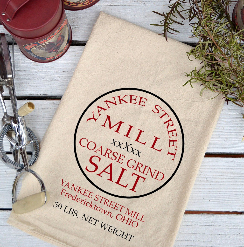 Farmhouse Natural Flour Sack Yankee Street Salt Country Kitchen Towel