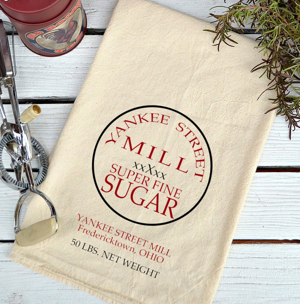 Farmhouse Natural Flour Sack Yankee Street Sugar Country Kitchen Towel