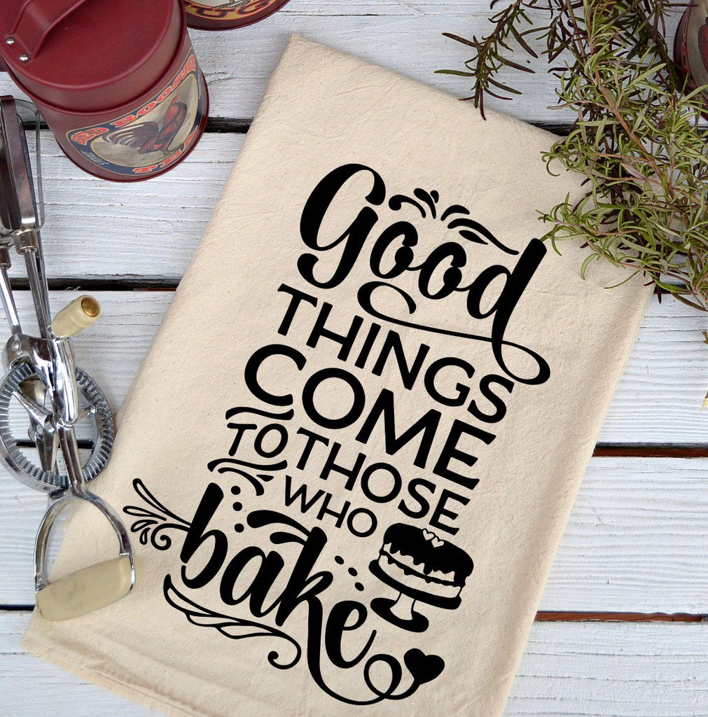 Farmhouse Natural Flour Sack Good Things Come Country Kitchen Towel