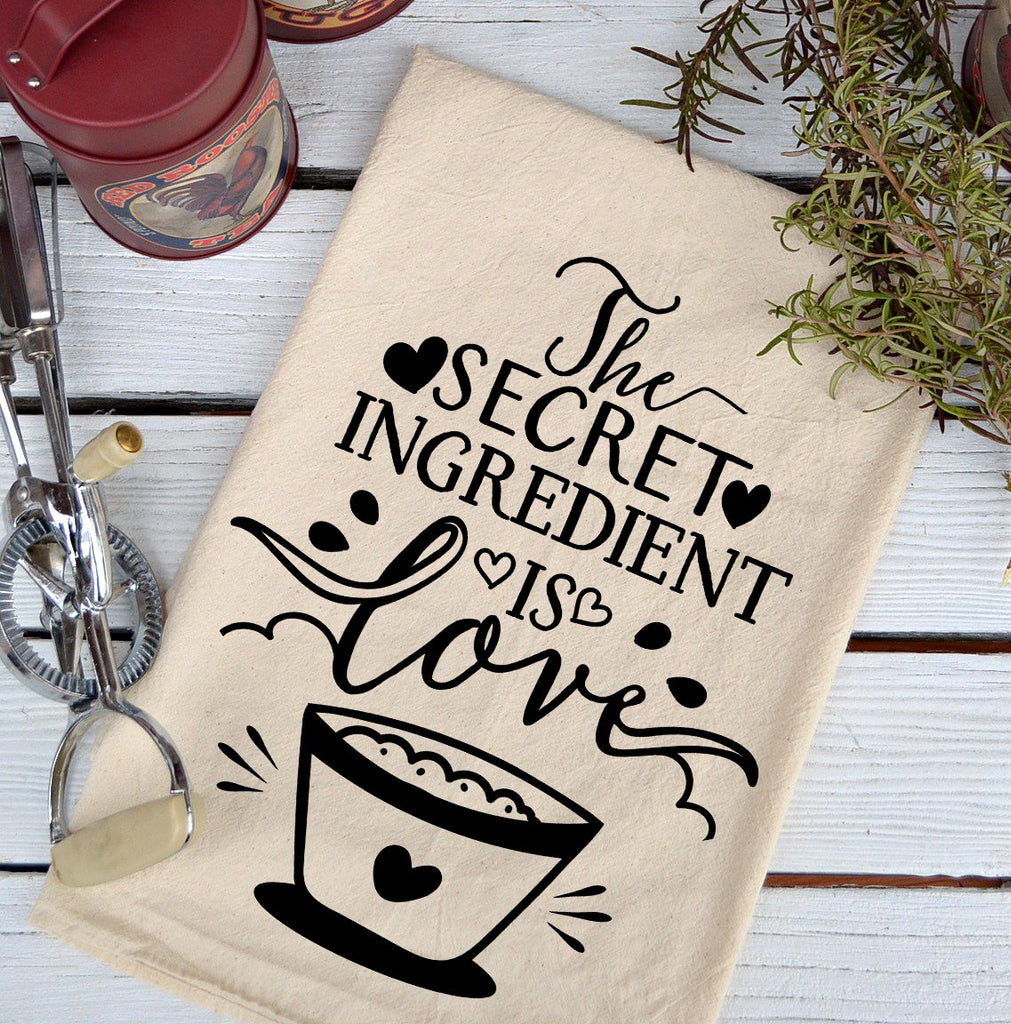 Farmhouse Natural Flour Sack The Secret Ingredient Country Kitchen Towel