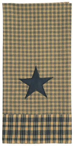 Vintage Star Black and Tan Dishtowel