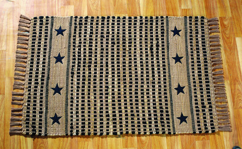 Vintage Star Black and Tan Rectangle Rug