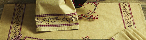 Checkerberry Long Table Runner