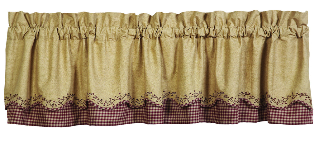 Checkerberry Scalloped Layer Valance