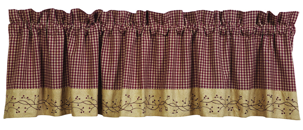 Checkerberry Valance